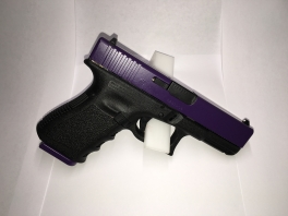 Painted a Glock for a girl Passion Purple